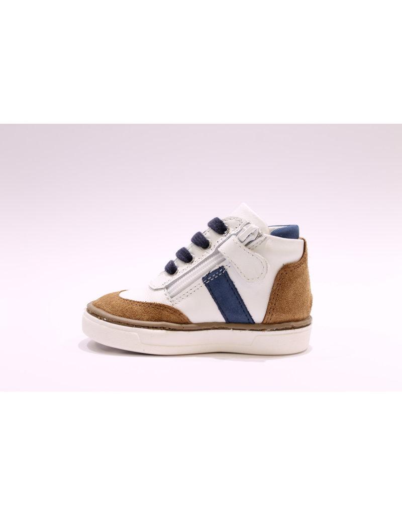 Chérie sneaker wit/camel/blauw