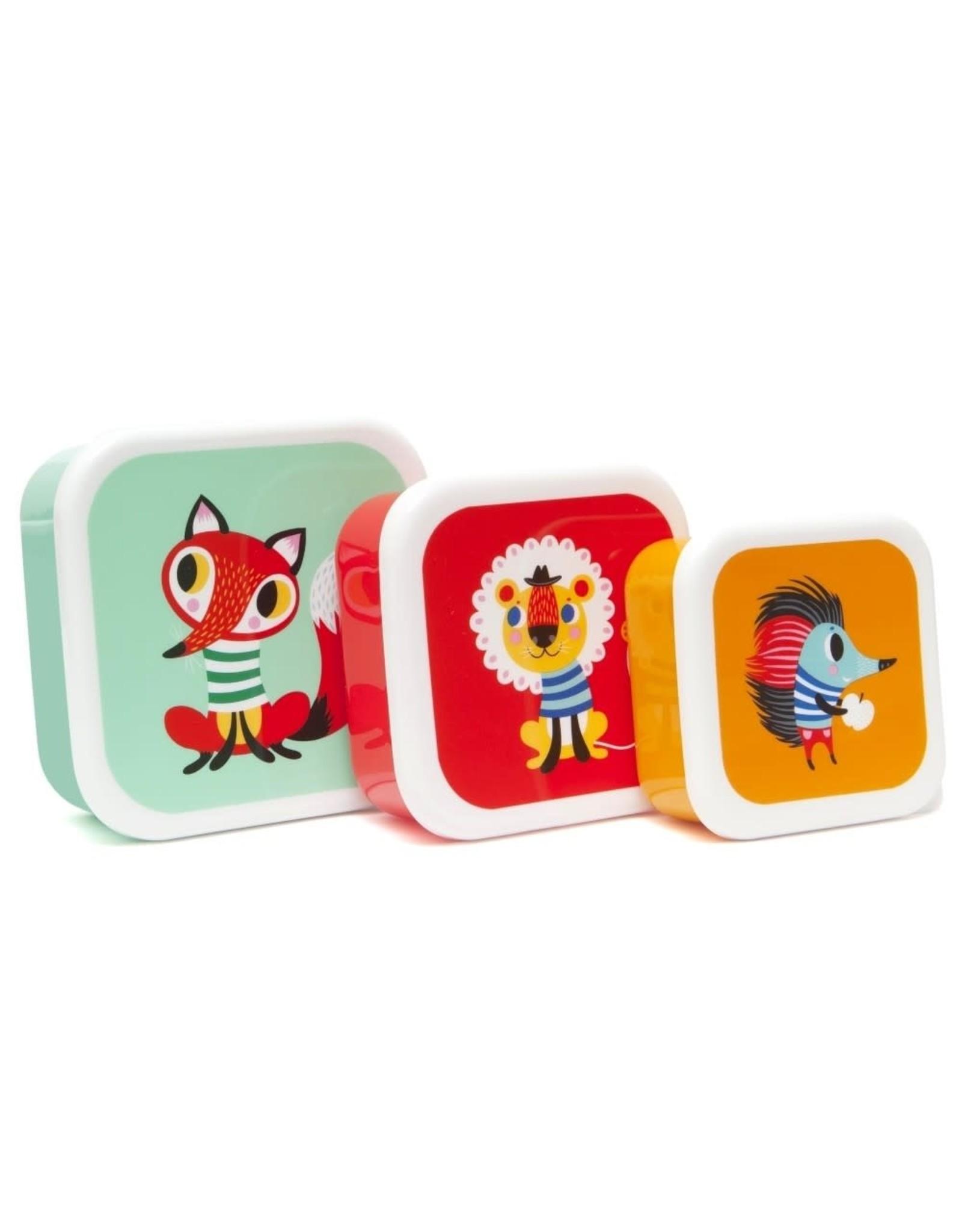 Petit Monkey lunchboxset color animals (3st)