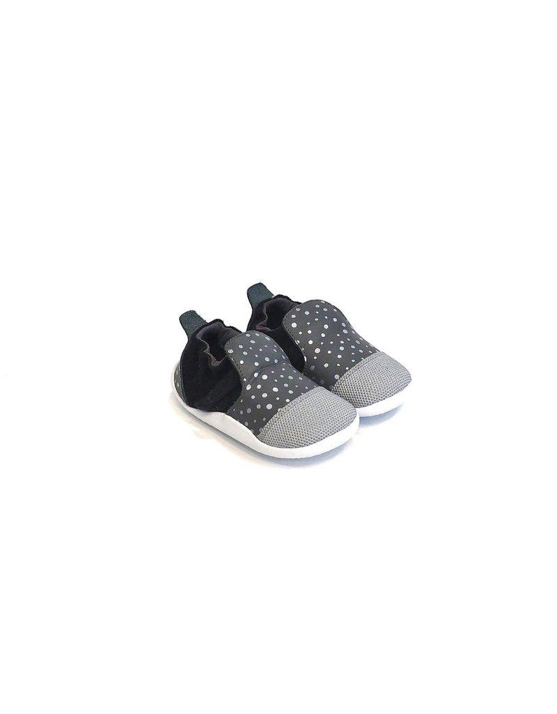 Bobux smoke silver dots
