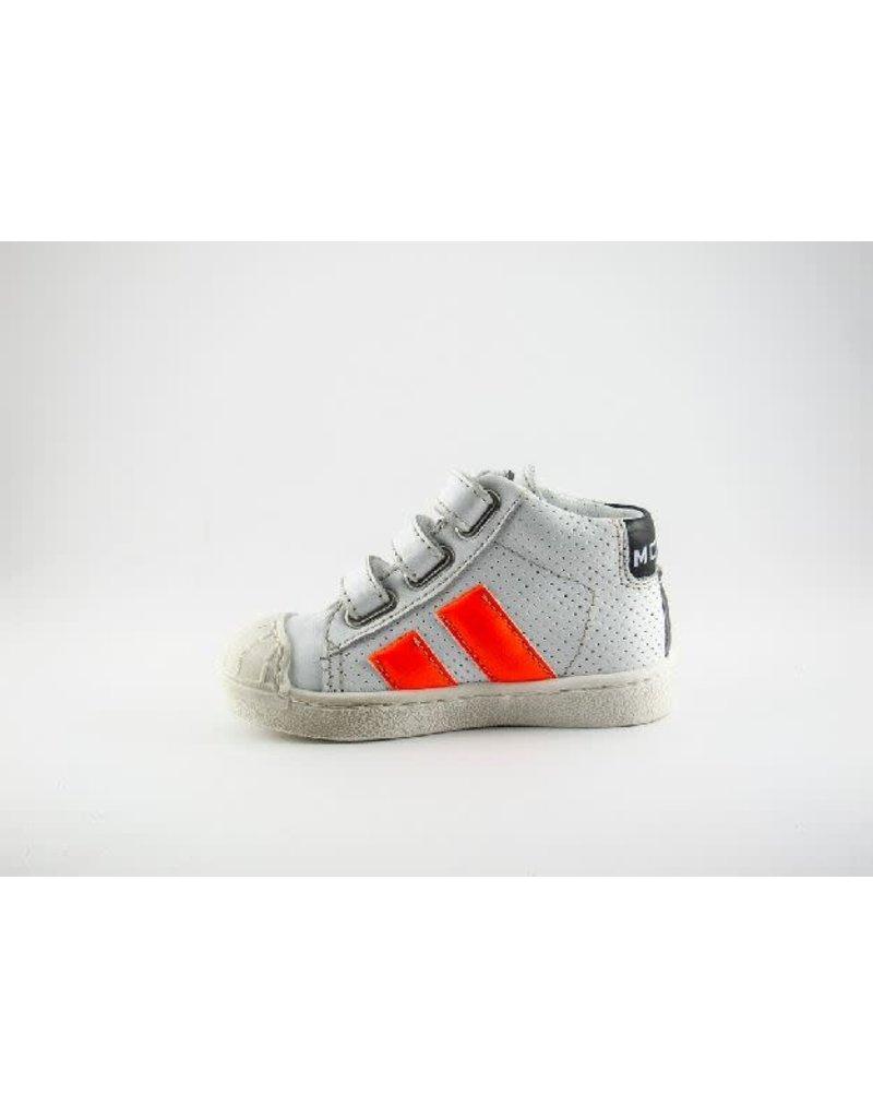 Momino sneaker hoog wit/neon velcro