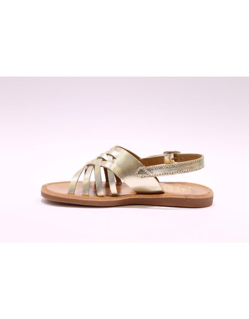 Pom d'Api sandaal goud straps