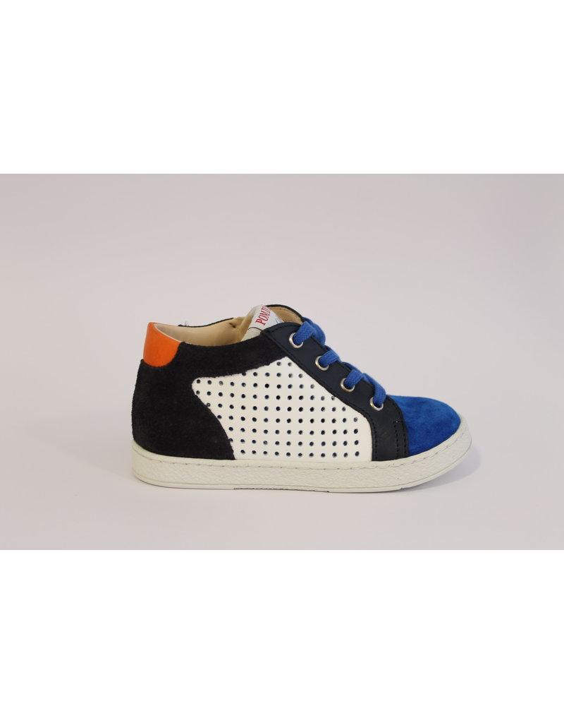 Athlet's sneaker wit/blauw/oranje