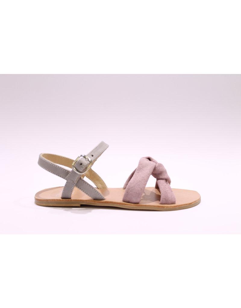 Manuela De Juan sandaal grijs/roze