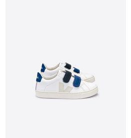 Veja wit/ blauw velcro