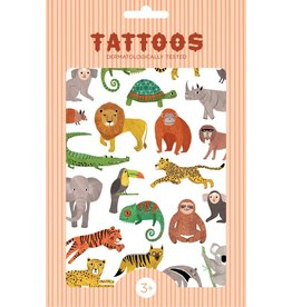 Petit Monkey tattoos jungle animals