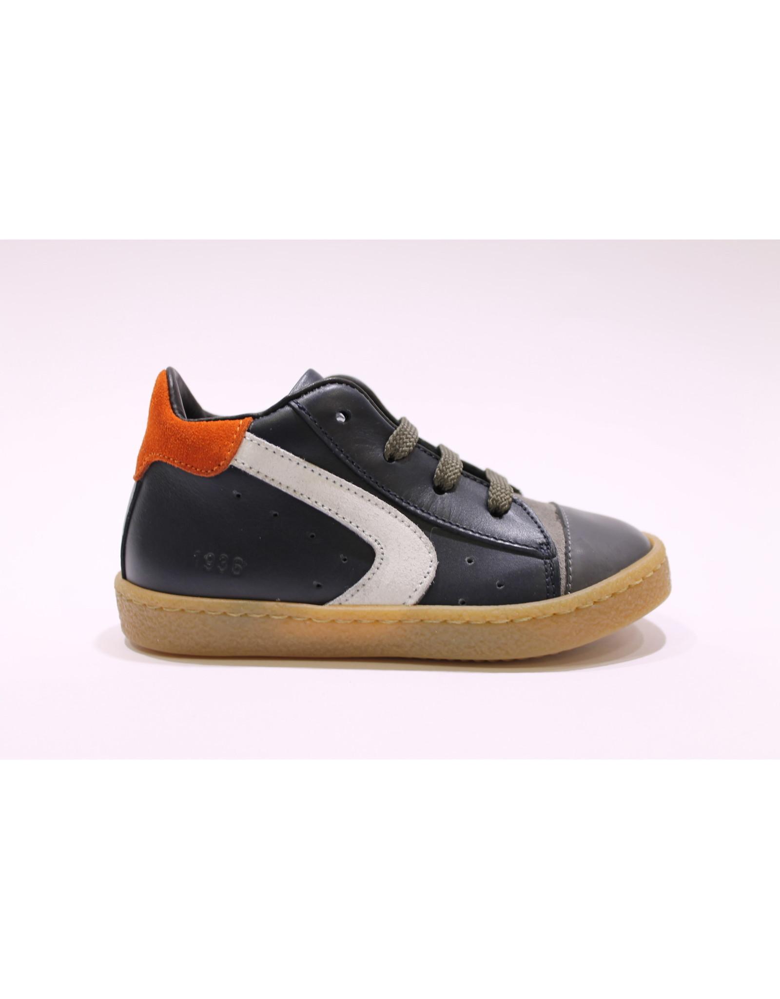 Rondinella sneaker donkerblauw/oranje