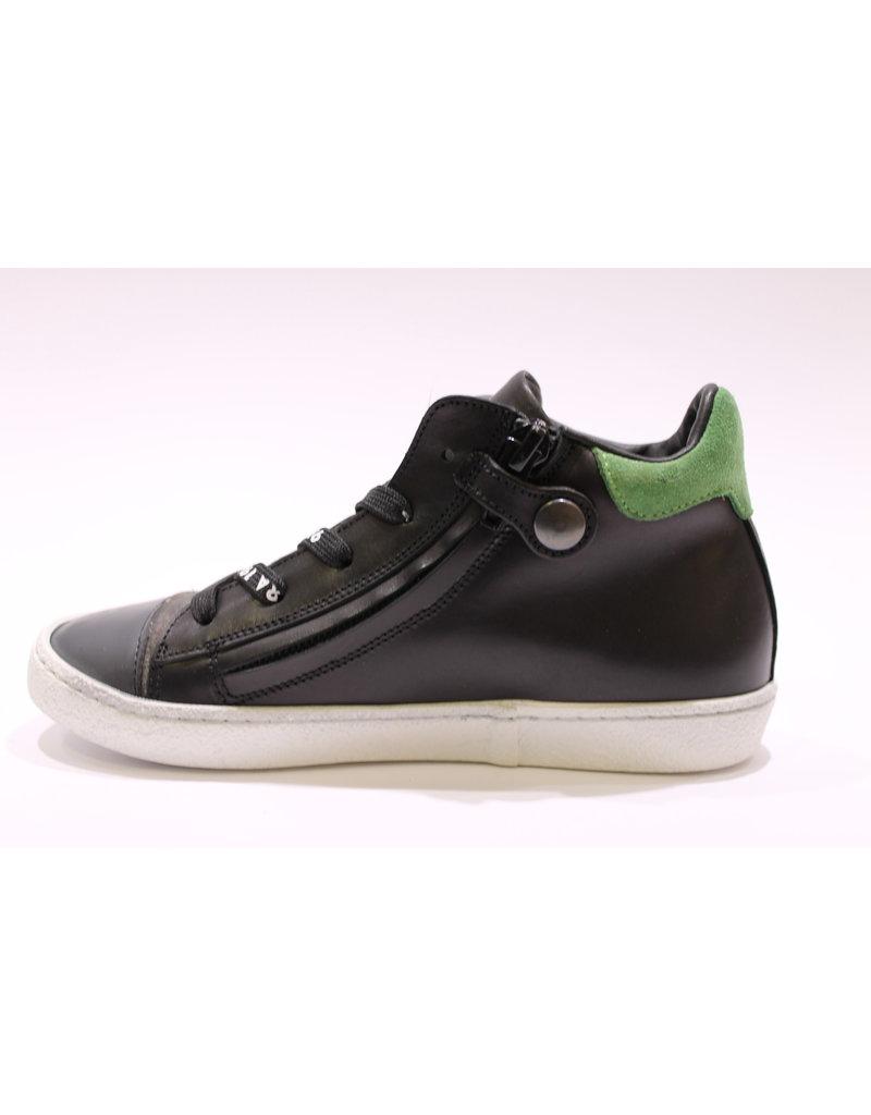 Rondinella sneaker zwart/groen