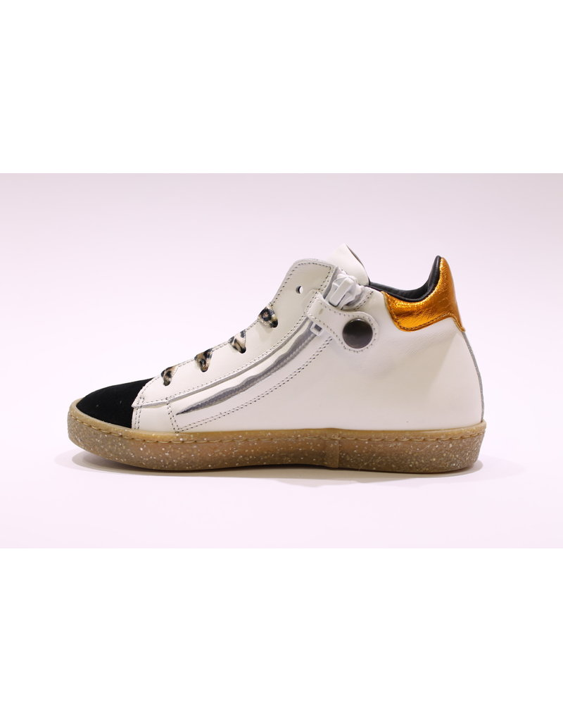 Rondinella sneaker wit/leopard