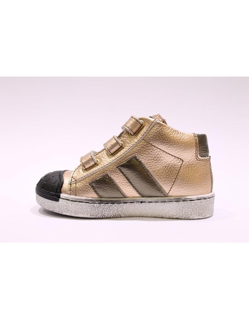 Momino sneaker velcro zalm/brons