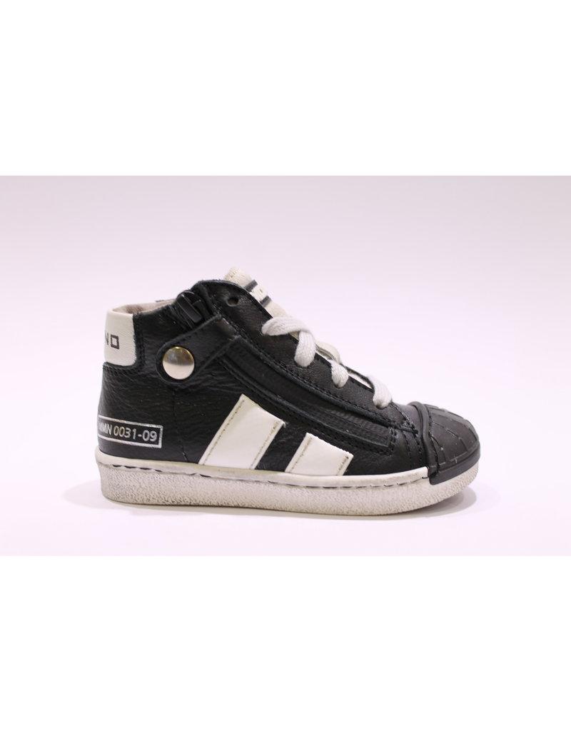 Momino sneaker veter zwart/wit