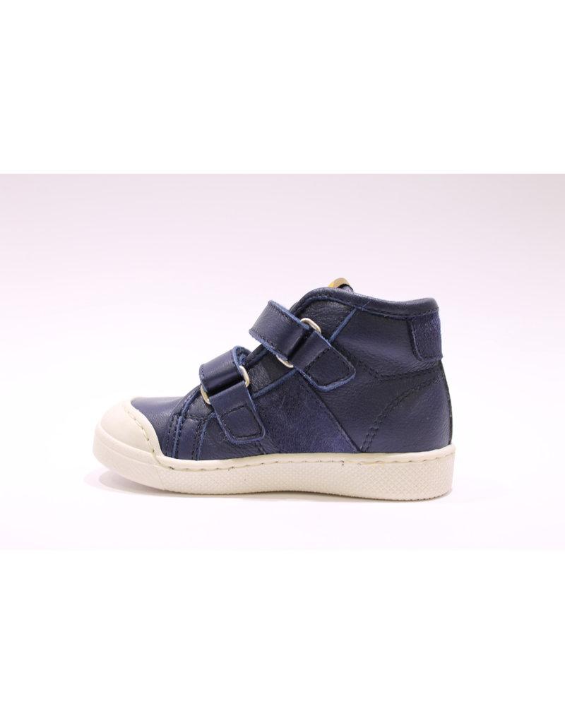 Ocra sneaker velcro blauw