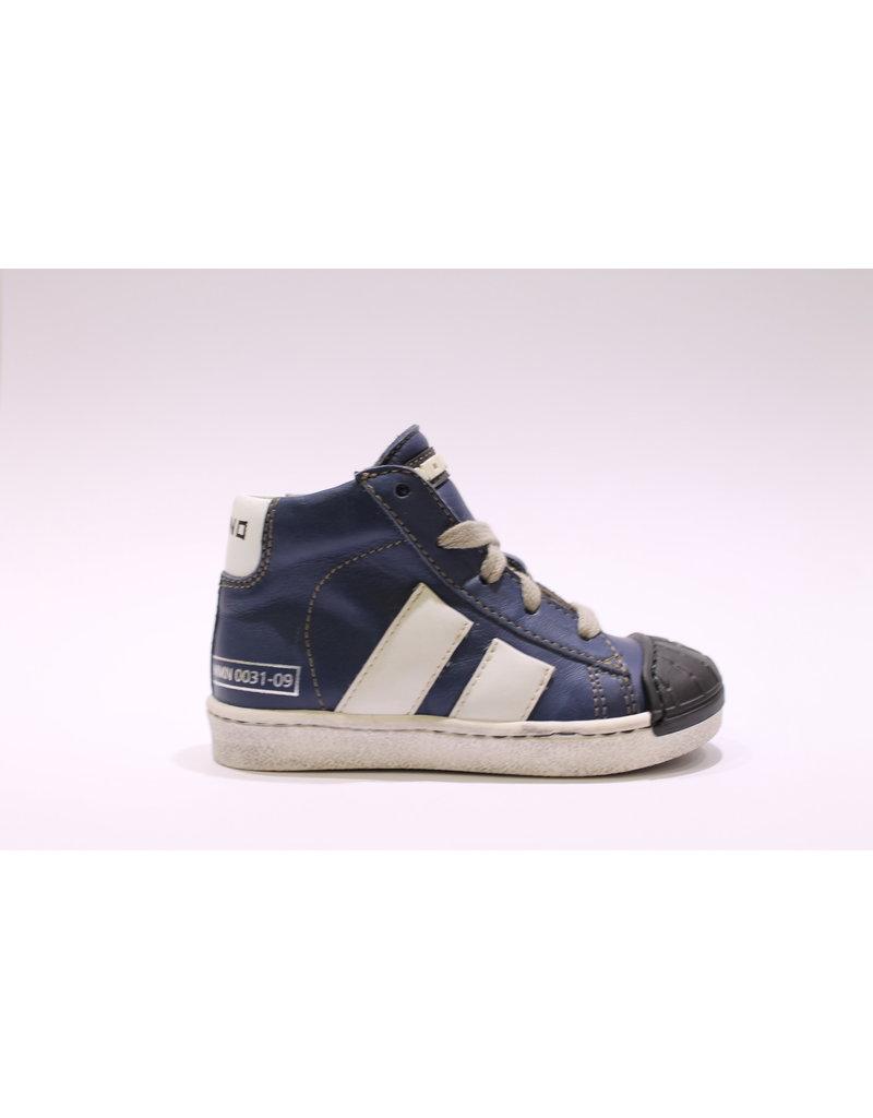 Momino sneaker blauw/zwart