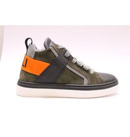 Andrea Morelli sneaker kaki, neon