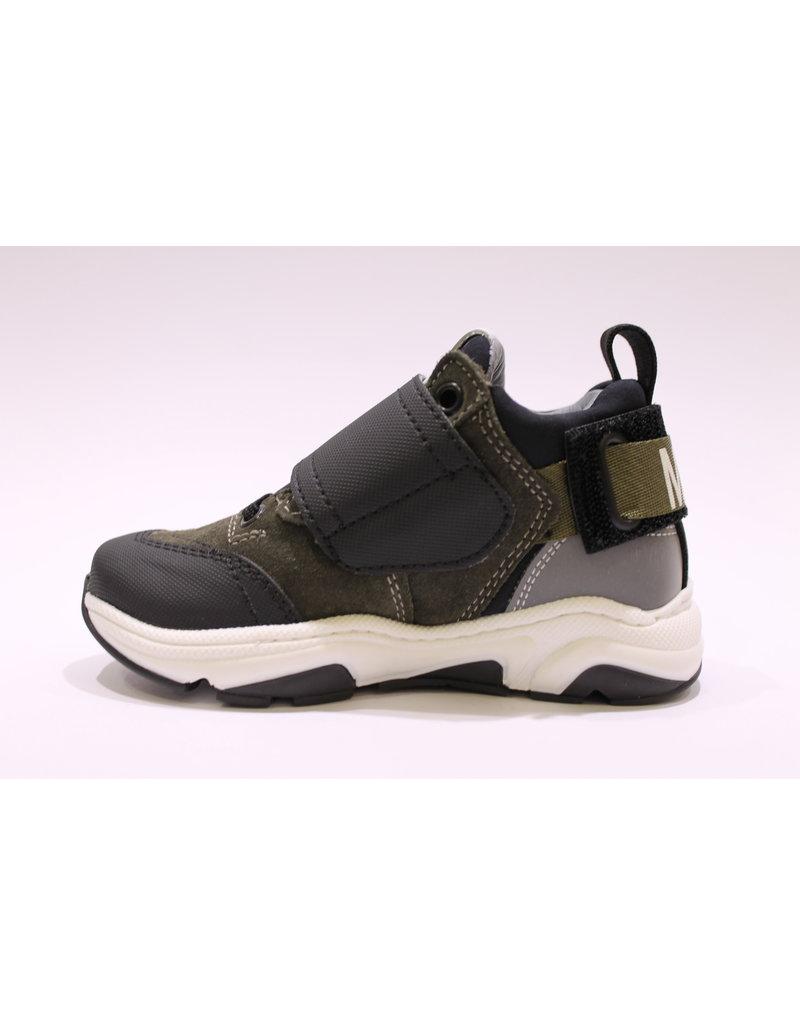 Andrea Morelli sneaker kaki, zwart velcro