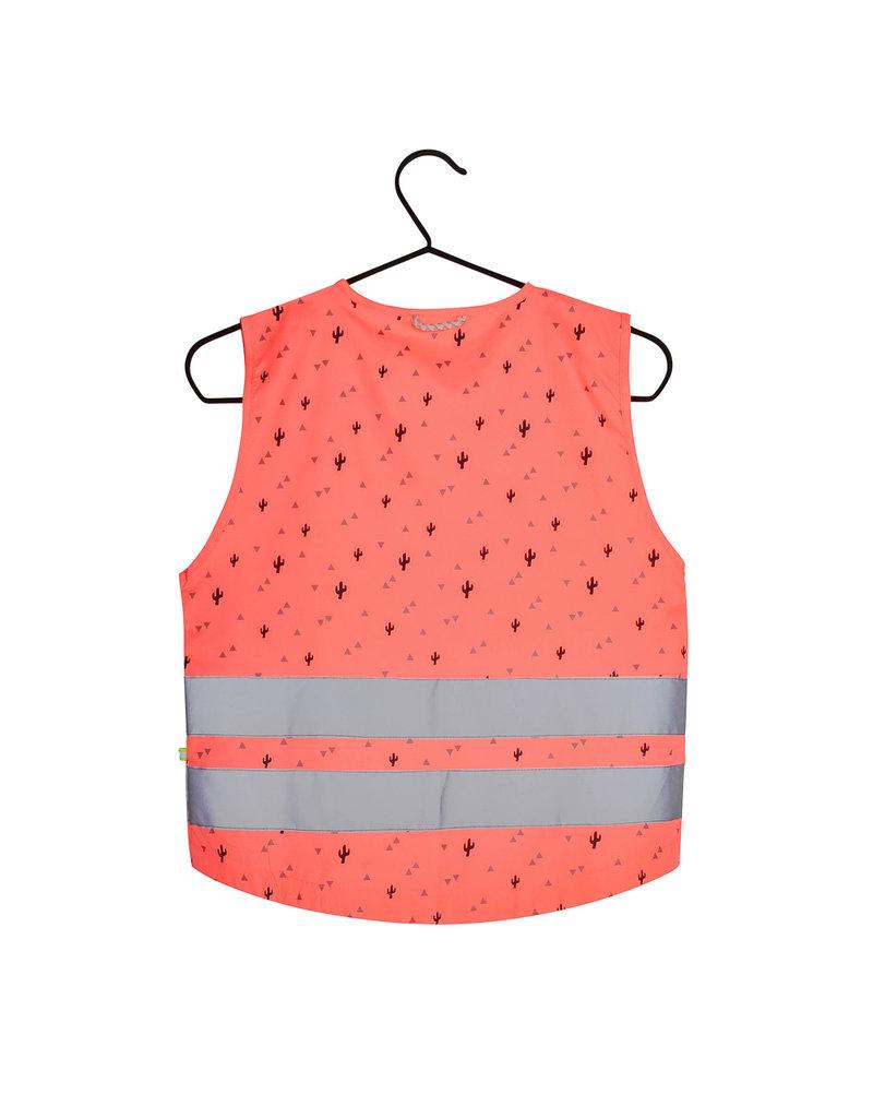 Gofluo Fluo roze driehoek