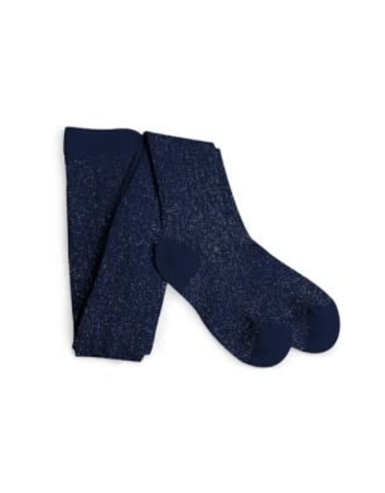 Collégien kousenbroek blauw glitter