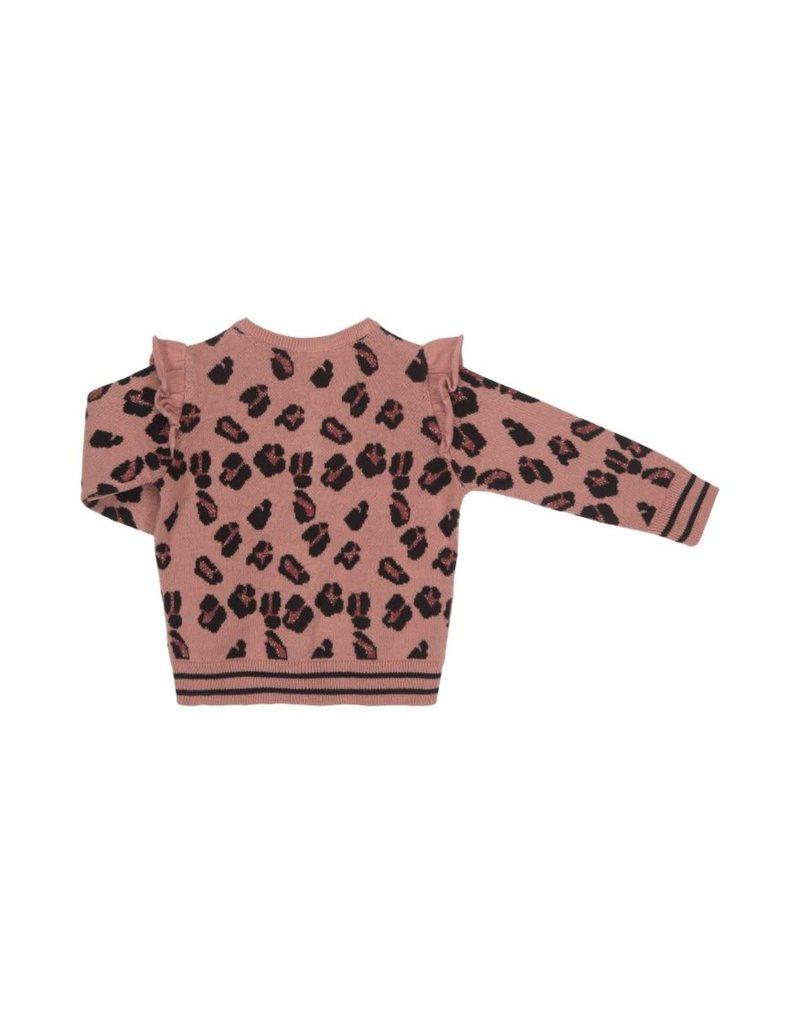 Petit by Sofie Schnoor vestje roze luipaard