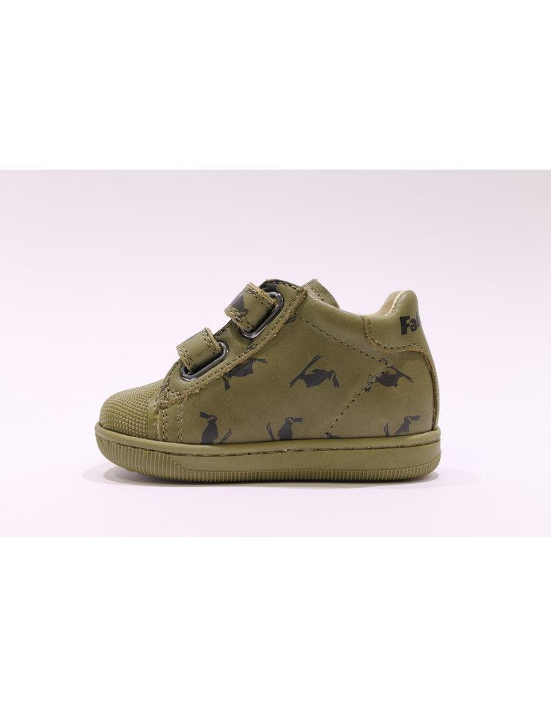 Falcotto sneaker velcro groen print
