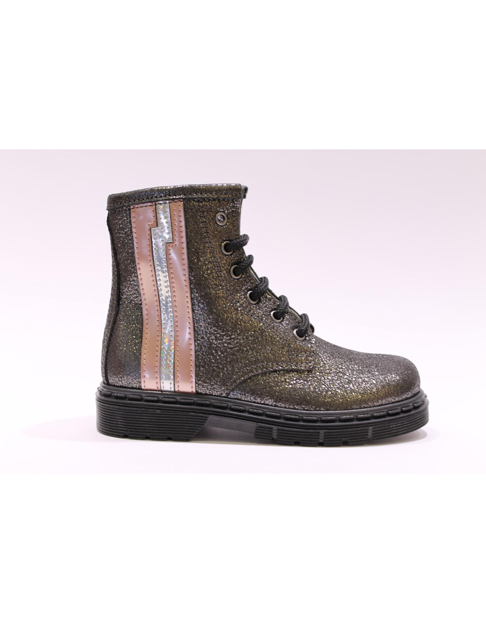 sho.e.b. veterlaars grijs/roze lijn