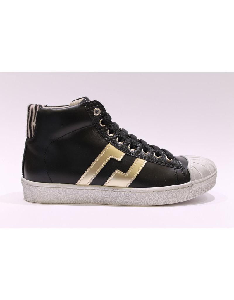 sho.e.b. sneaker zwart/zebra