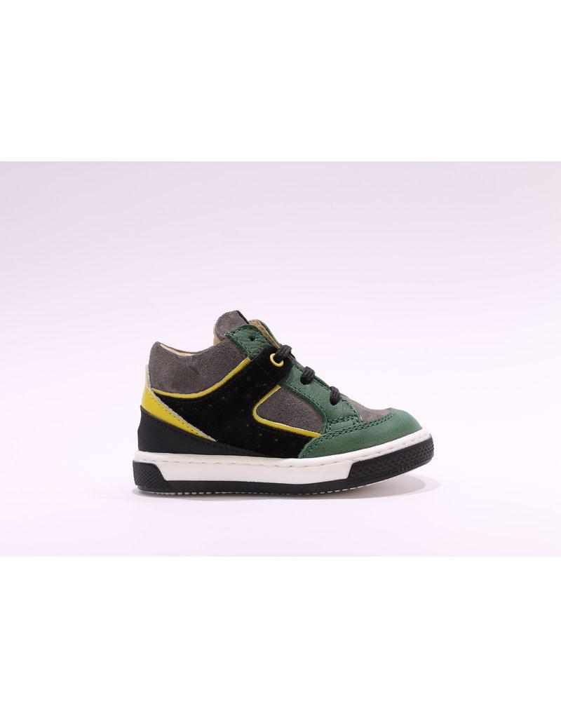 Walkey sneaker groen/grijs/geel/zwart