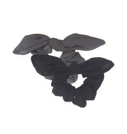 Petit by Sofie Schnoor scrunchies zwart en grijs