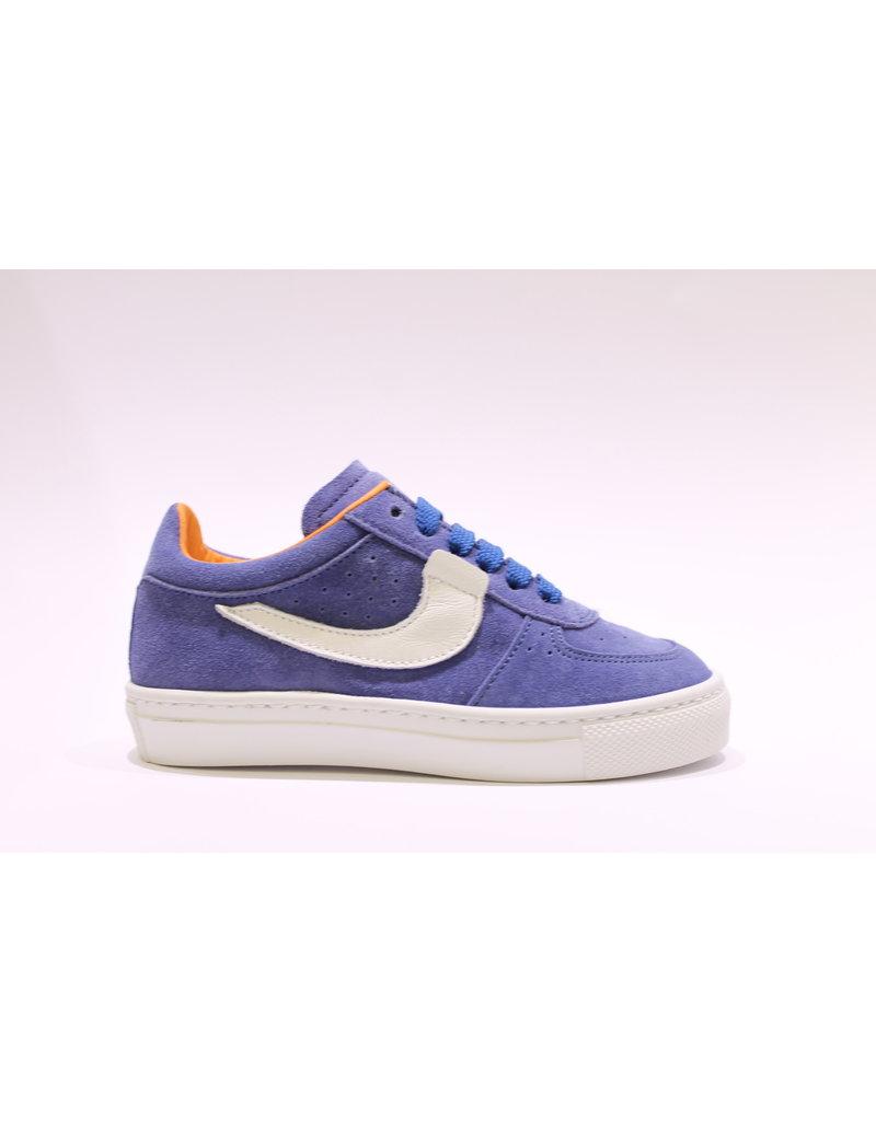 Rondinella sneaker blauw/oranje