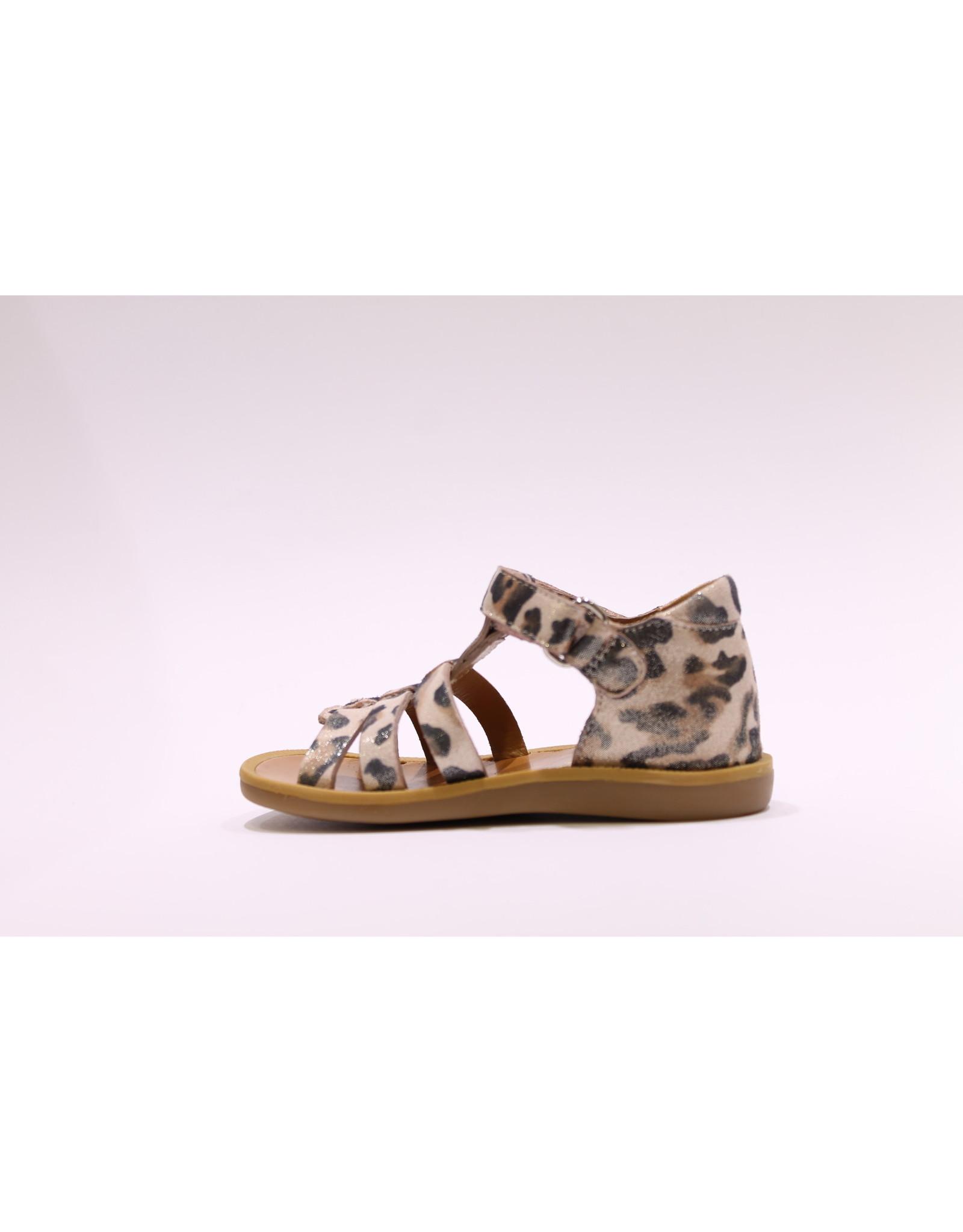 Pom d'Api sandaal poppy strap leopard