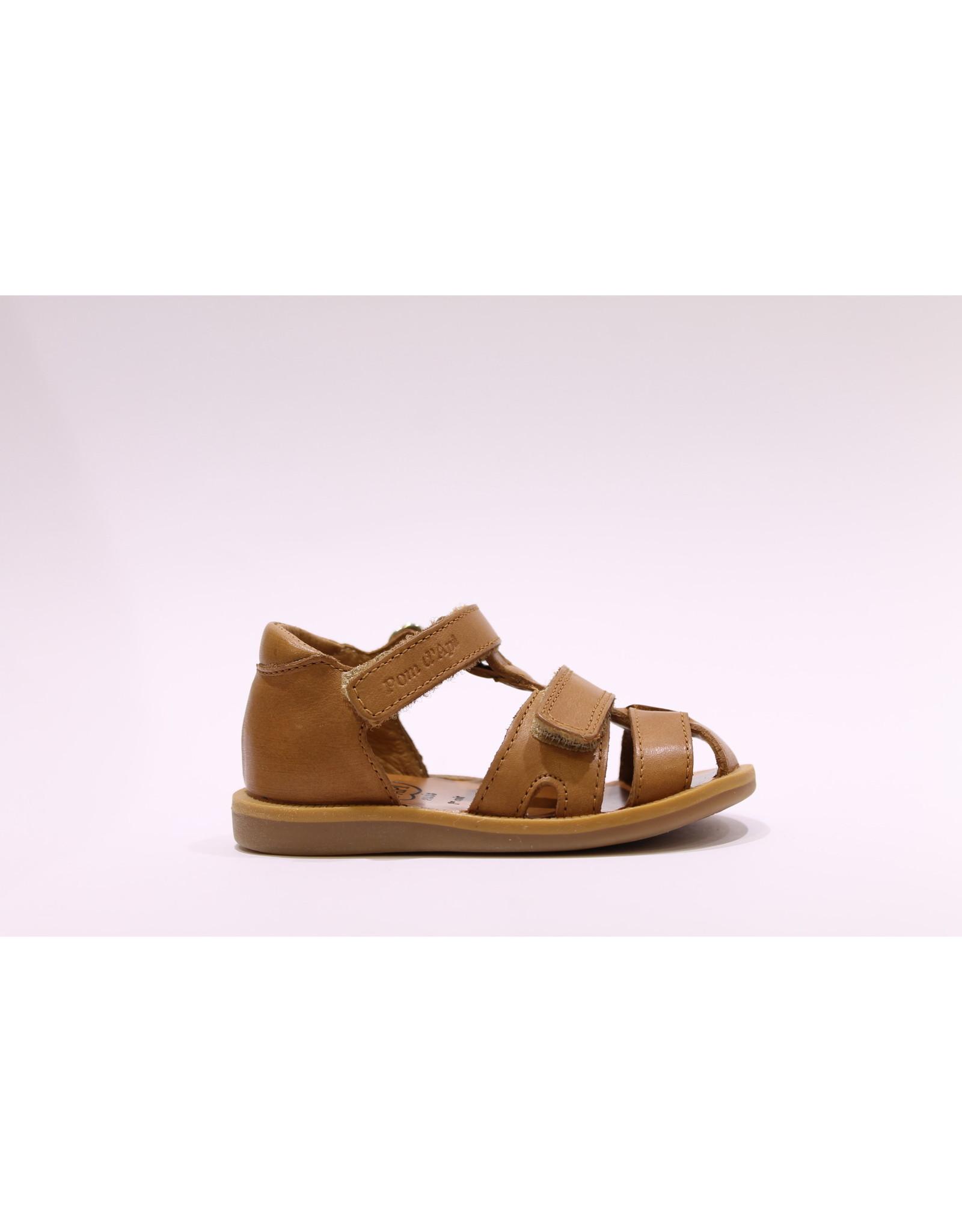 Pom d'Api sandaal poppy boy strap camel