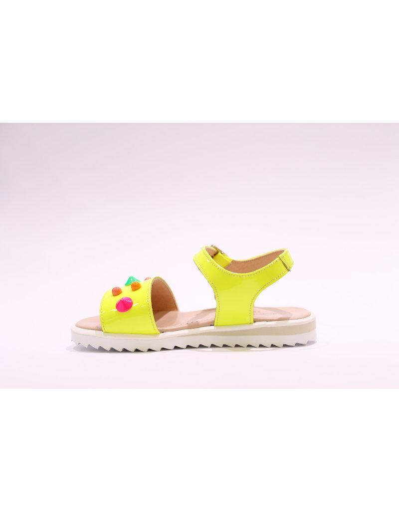 Clarys sandaal fluo geel