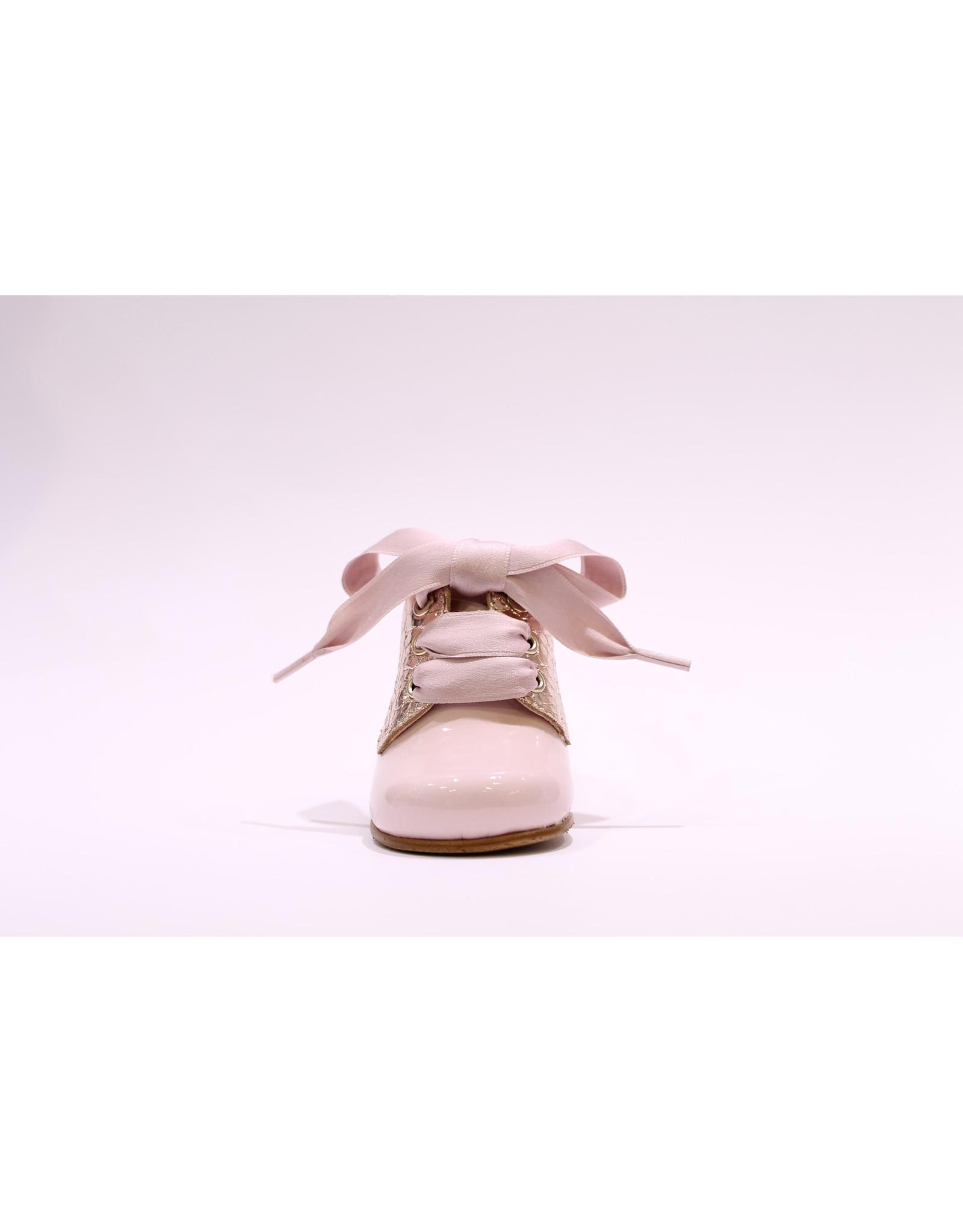 Clarys veterschoentje roze/metallic