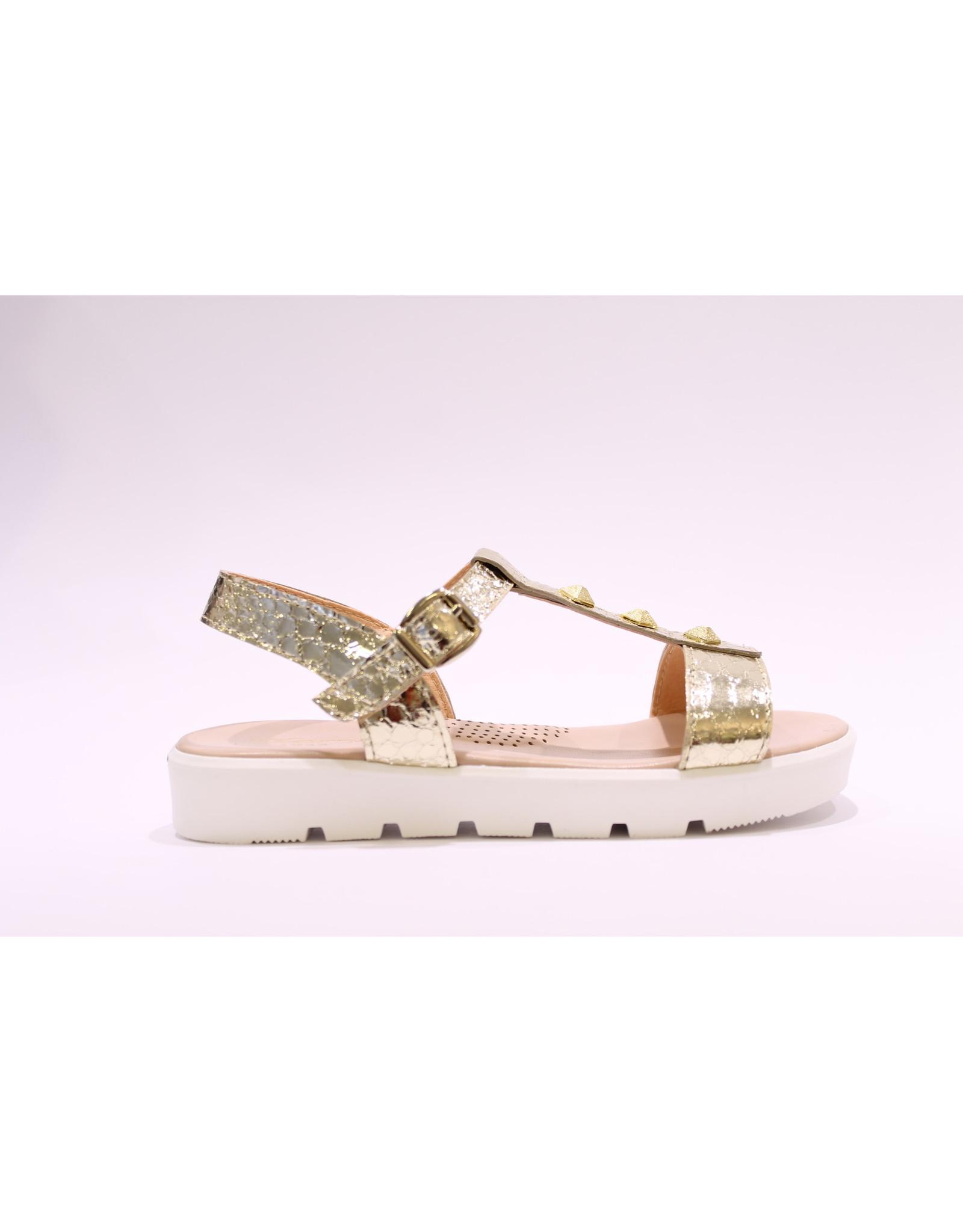 Clarys sandaal goud studs