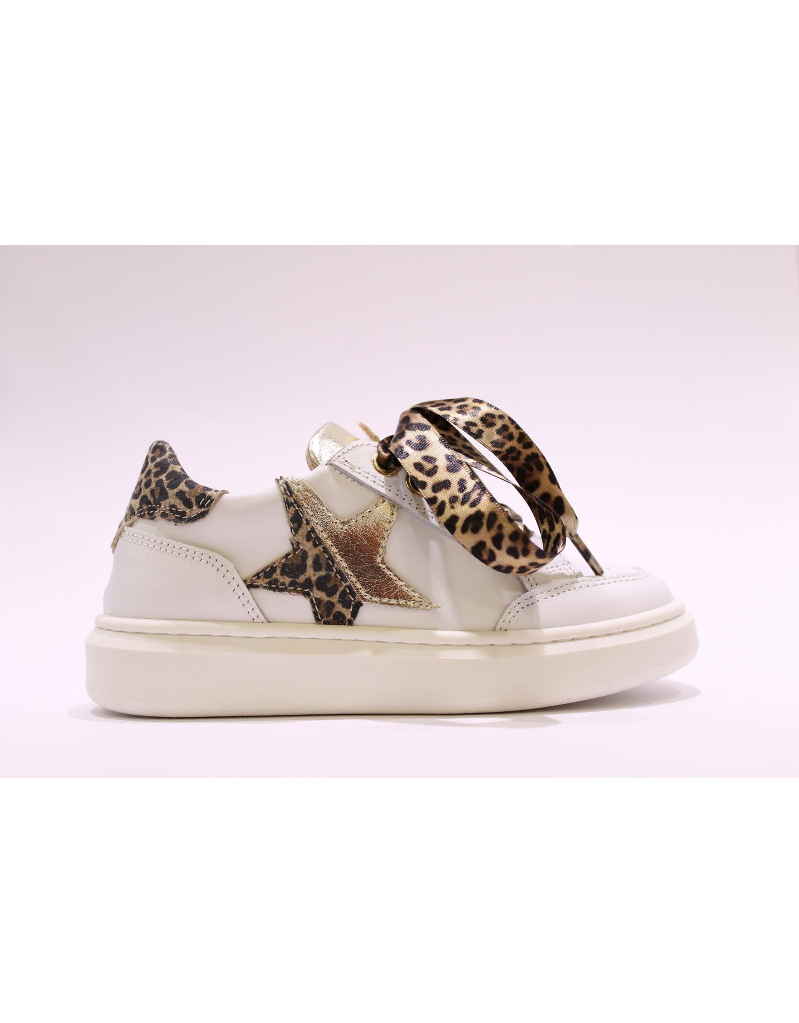 Andrea Morelli sneaker wit/leopard