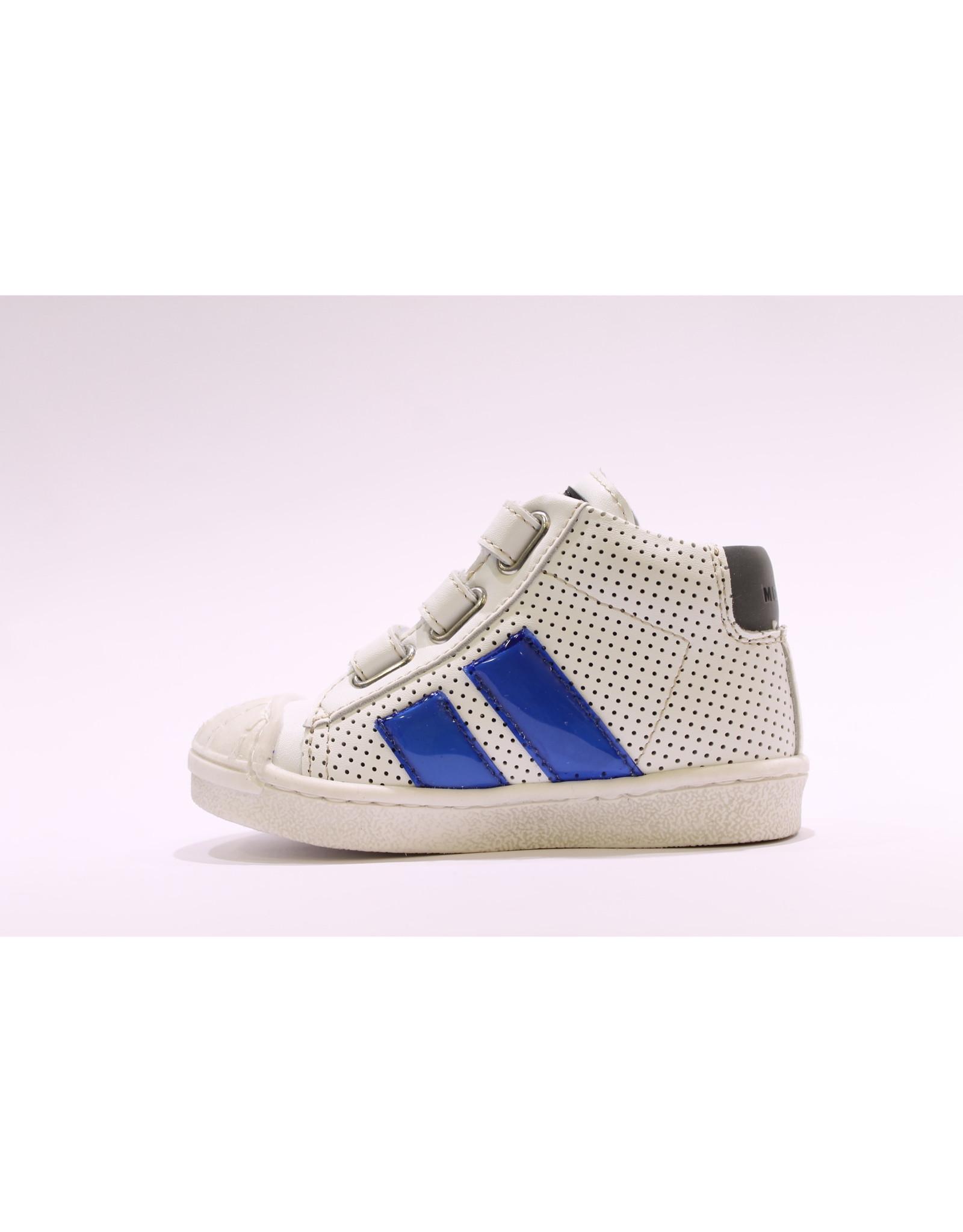 Momino sneaker hoog wit/blauw