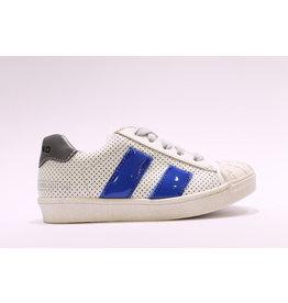 Momino sneaker laag wit/blauw