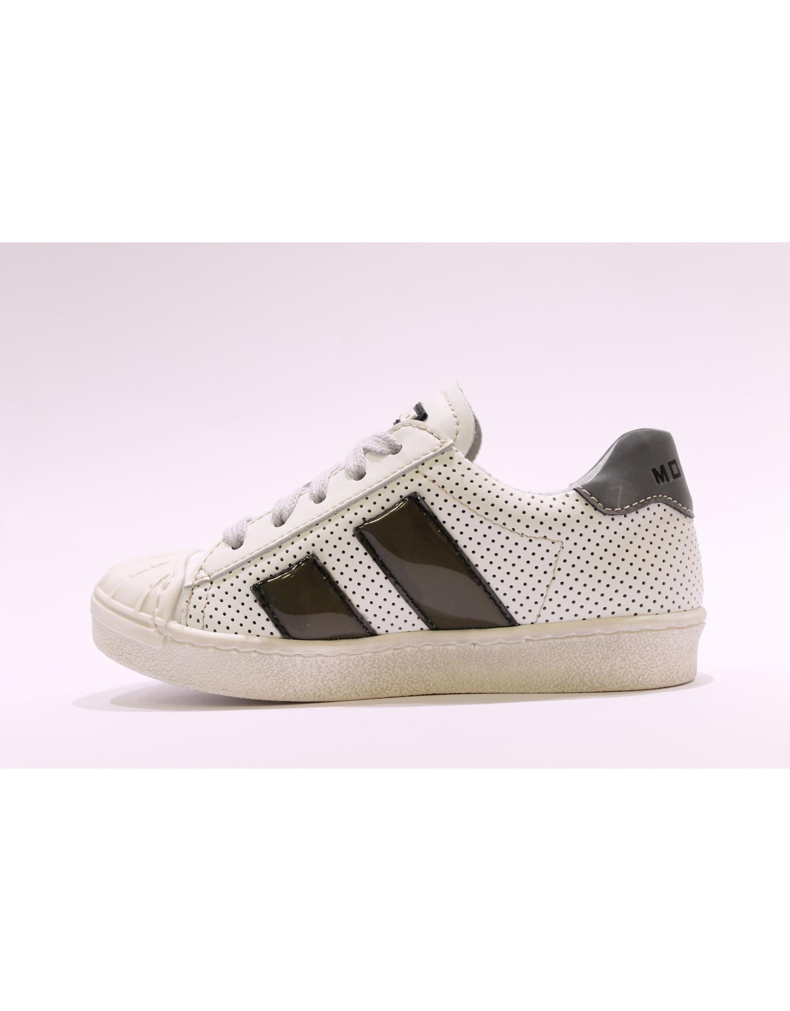 Momino sneaker laag wit/zwart