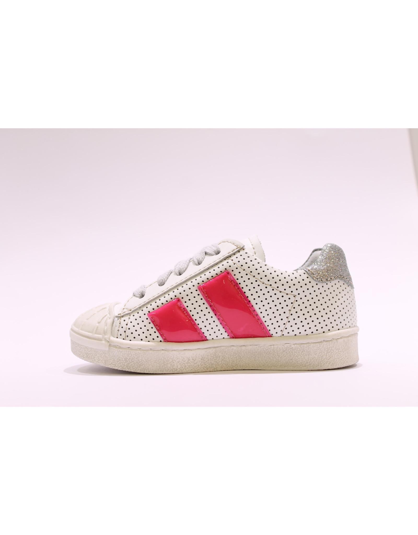 Momino sneaker laag wit/roze