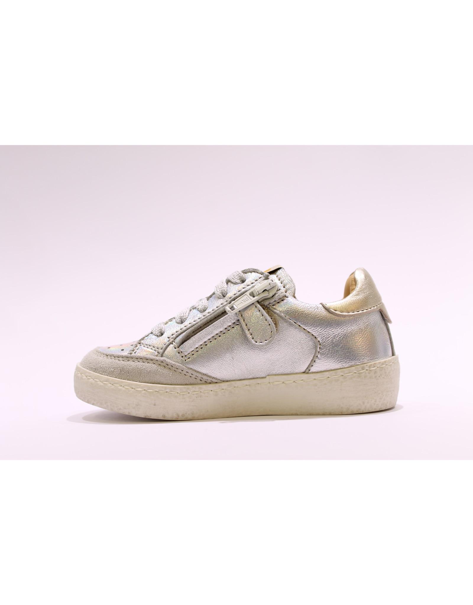 Ocra sneaker zilver/roze bliksem