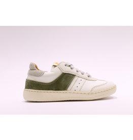 Ocra sneaker wit/kaki daim
