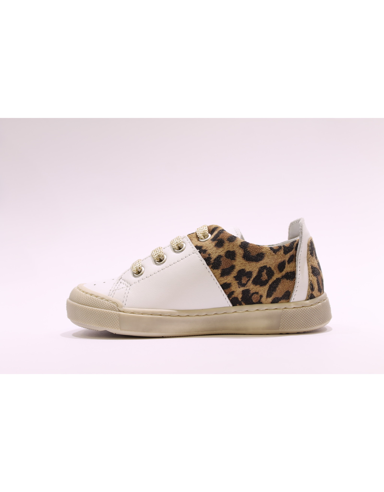 Naturino sneaker wit/luipaard