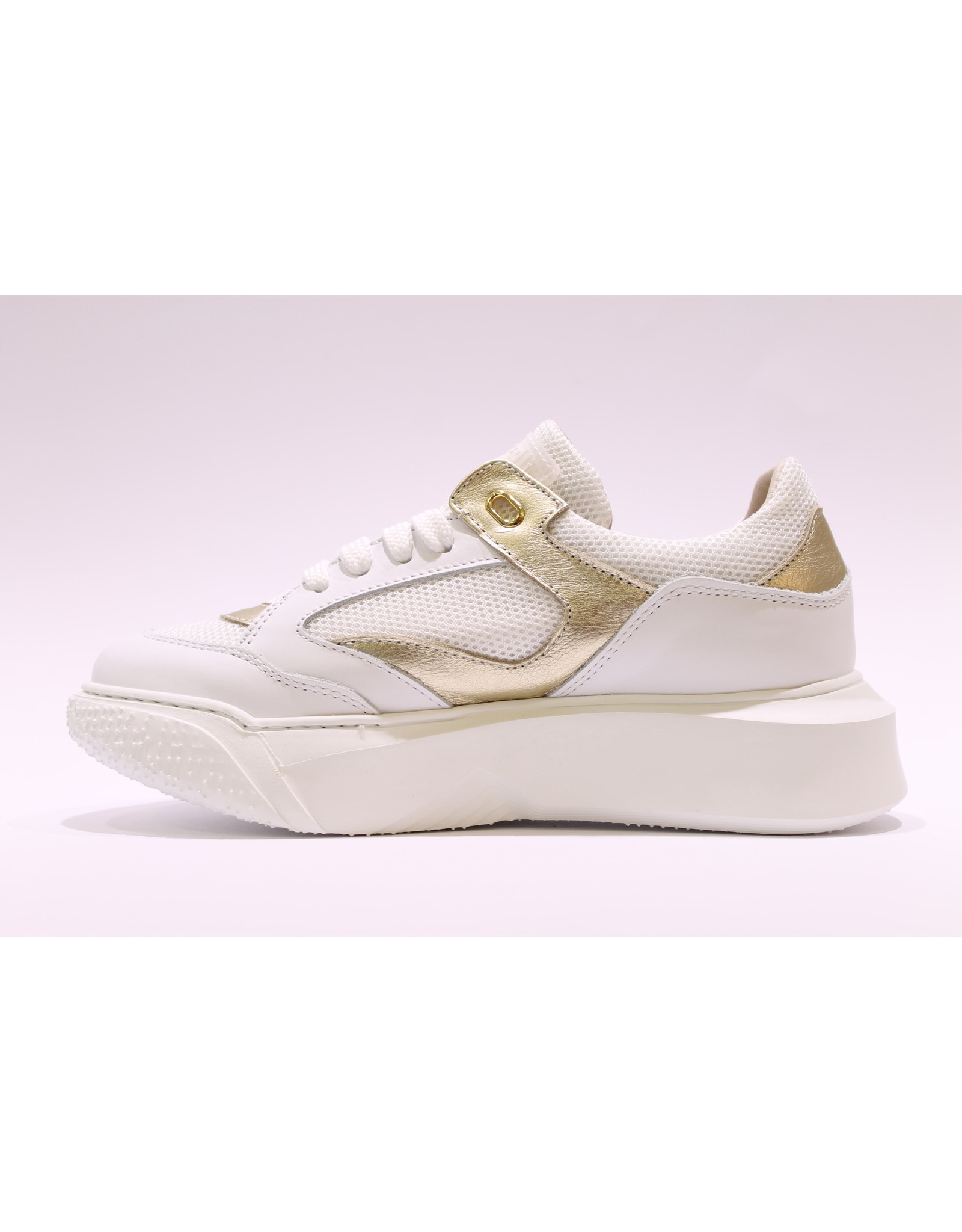 Andrea Morelli sneaker wit/goud