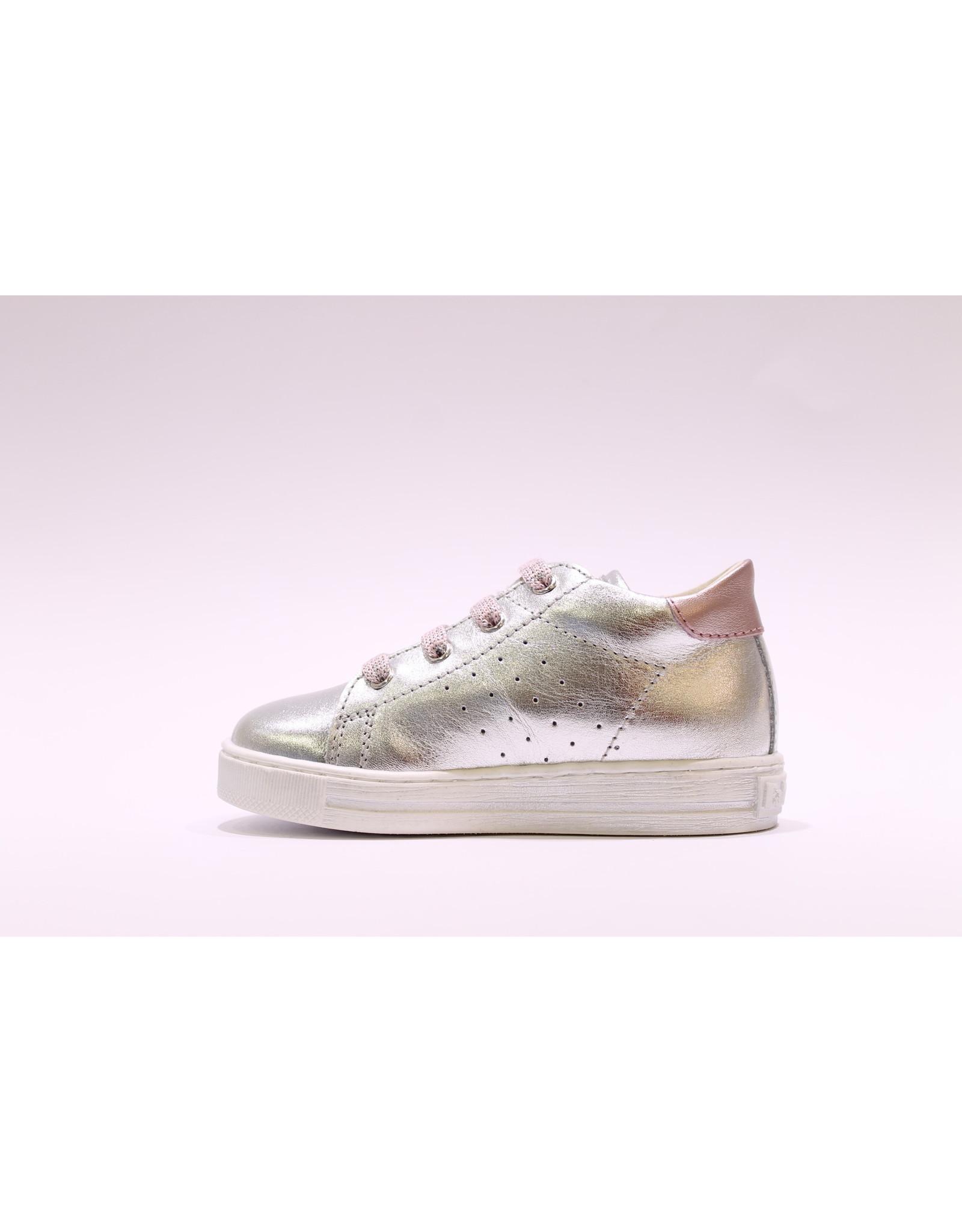 Falcotto sneaker zilver/roze hart