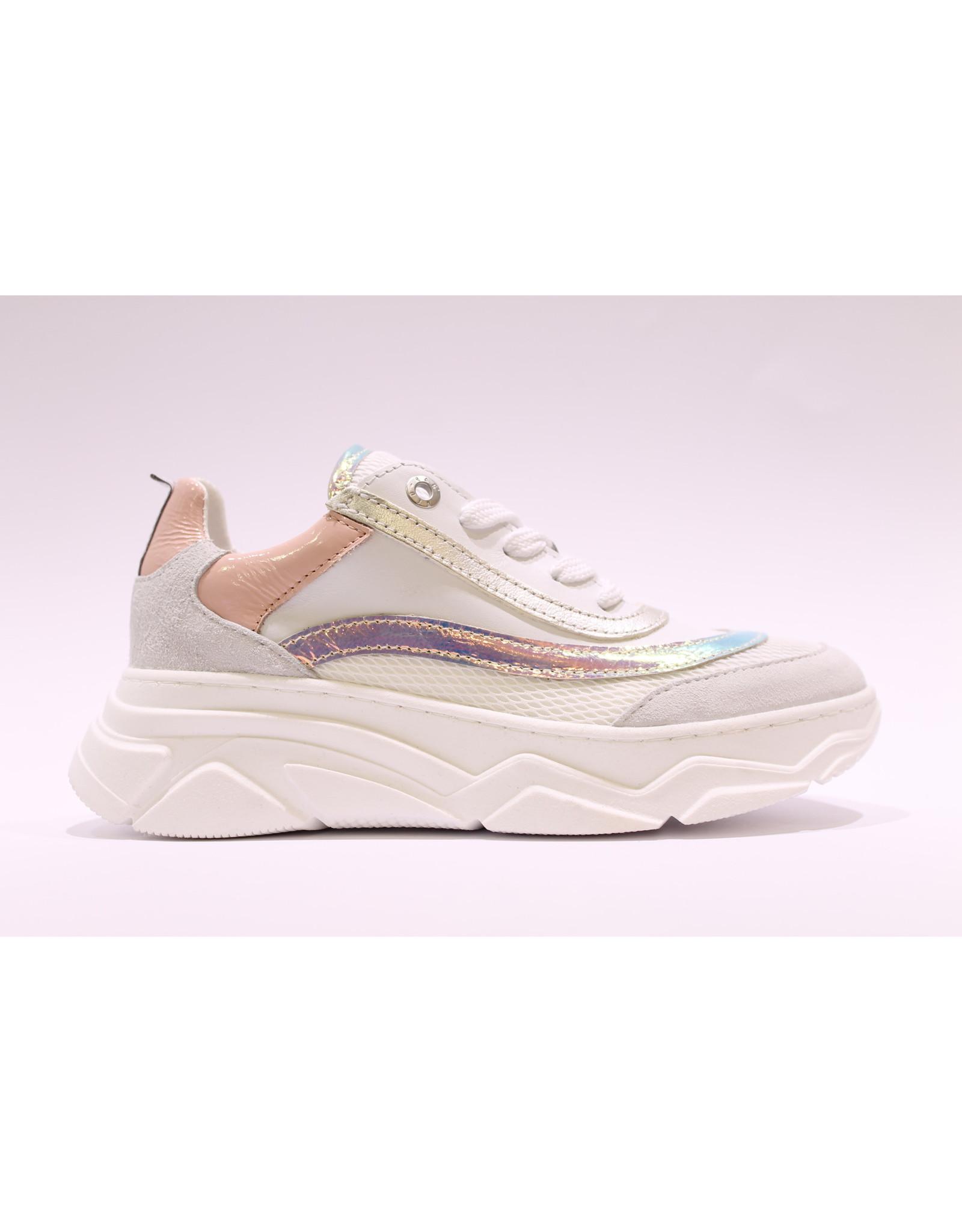 RedRag sneaker wit zilver/roze