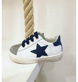 Naturino sneaker wit blauw ster