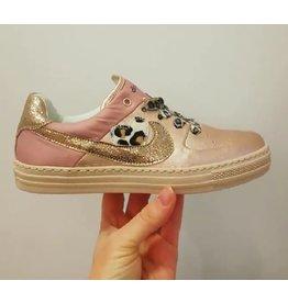 Rondinella sneaker roze metallic/leopard