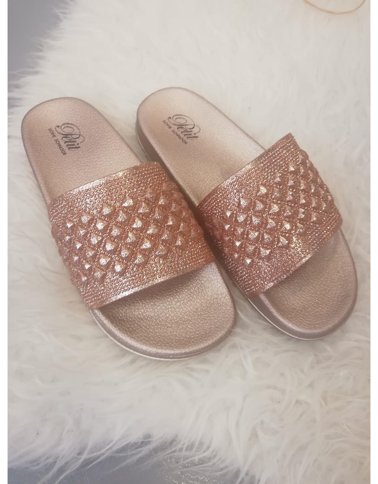 Petit by Sofie Schnoor slippers roze glitter