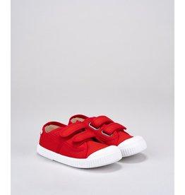 Igor speelschoen rood velcro