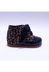 Clarys veterschoentje zwart/leopard