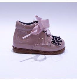 Clarys veterschoentje roze/leopard