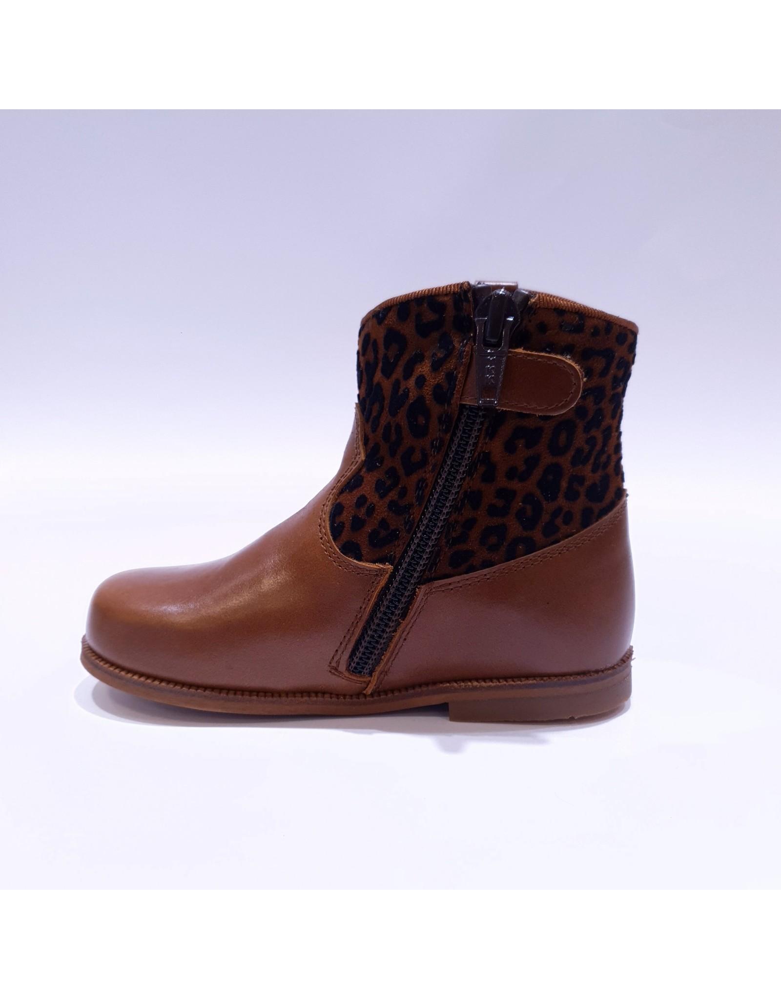 Clarys laars cognac leopard